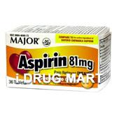 アスピリン 81mg(チュワブルオレンジ) の画像